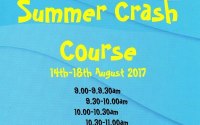 SUMMER CRASH COURSE 14th – 18th AUGUST 2017