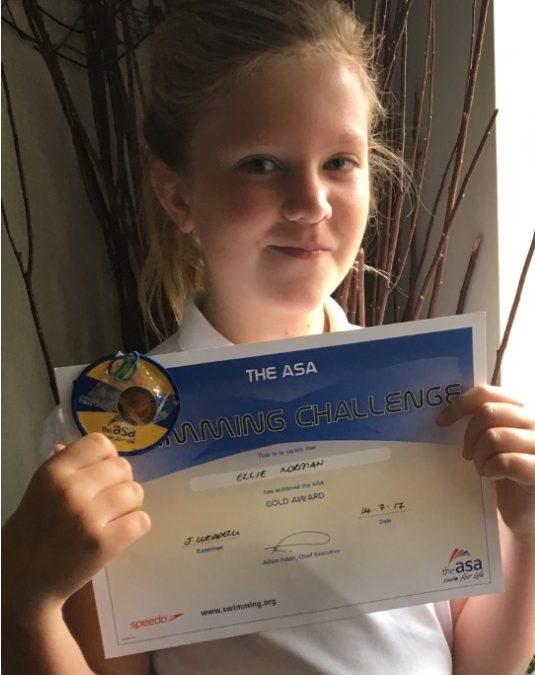 Ellie completes her Gold Challenges