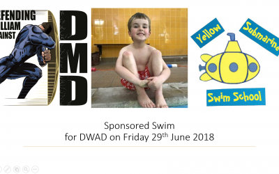 SPONSORED SWIM-'Defending William against Duchenne'